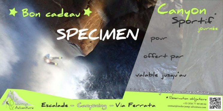 bon-cadeau-noel-canyoning escalade via ferrata