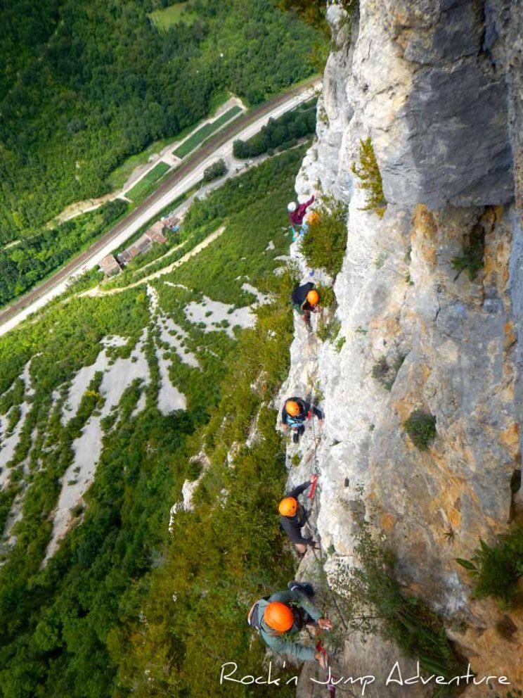 canyoning escalade via ferrata jura bugey pays de gex lausanne geneve nyon saint claude