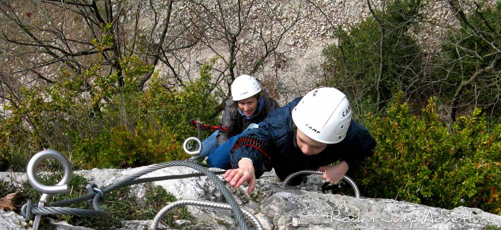 crazy packs via ferrata canyoning