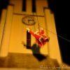 animations de noël pere noel tyrolienne descente en rappel