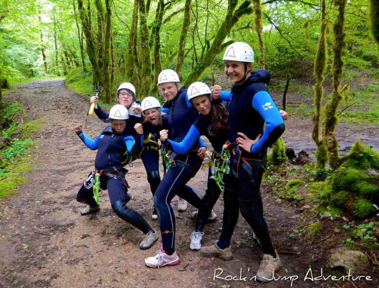 canyoning dans le Jura CVL colos pays de gex lausanne geneve nyon lyon