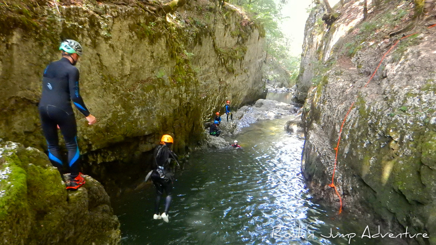canyoning malvaux foncine le bas